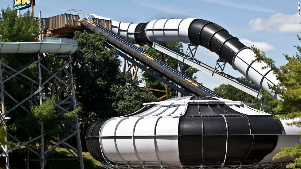 """Noah's Ark bills its snaky black and white Time Warp as """"the world's largest bowl ride."""""""