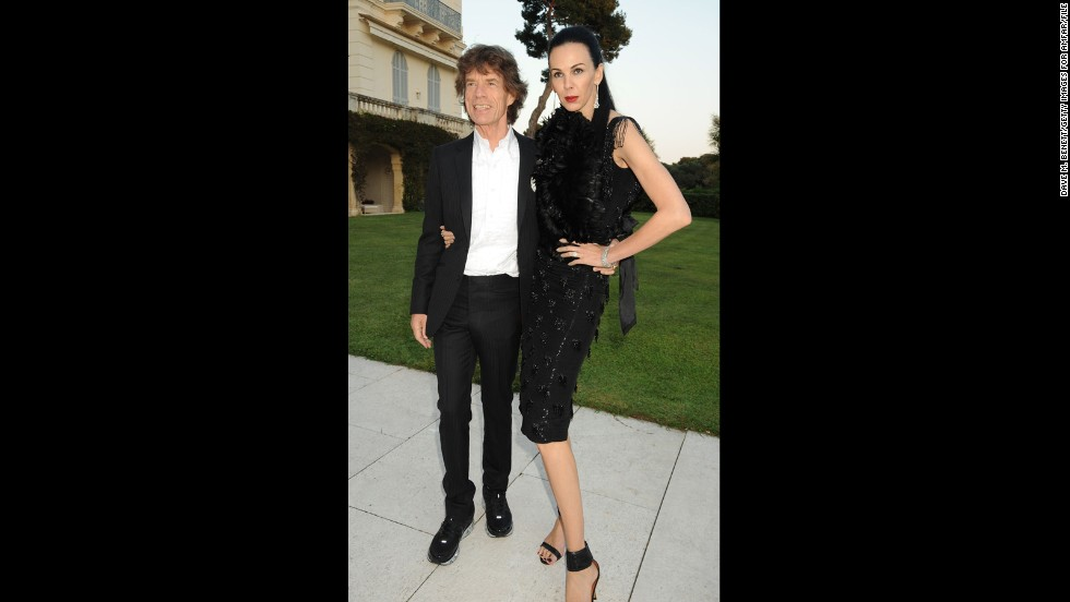 Jagger is known for his love of fashionable women, and he does his best to look just as chic. Here, the artist attends amfAR's Cinema Against AIDS 2010 benefit gala with girlfriend L'Wren Scott.