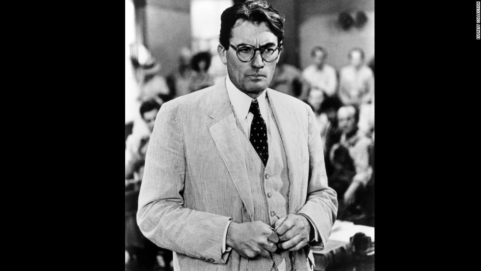 """Gregory Peck cut a striking figure in a Haspel seersucker suit in """"To Kill a Mockingbird,"""" 1962."""