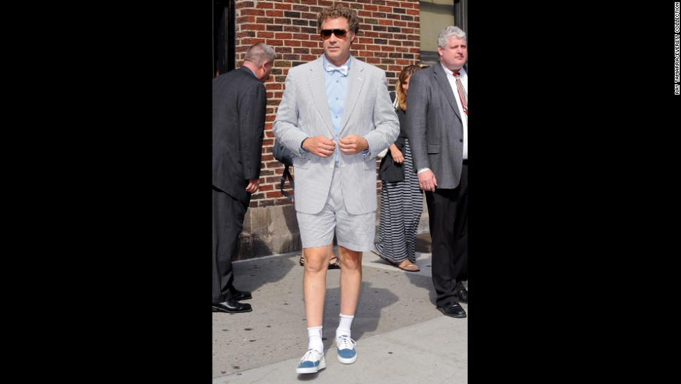 Will Ferrell, wore a seersucker shorts suit for his 2010 visit to the ''Late Show With David Letterman.''