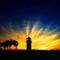 kaiping diaolou-sunset