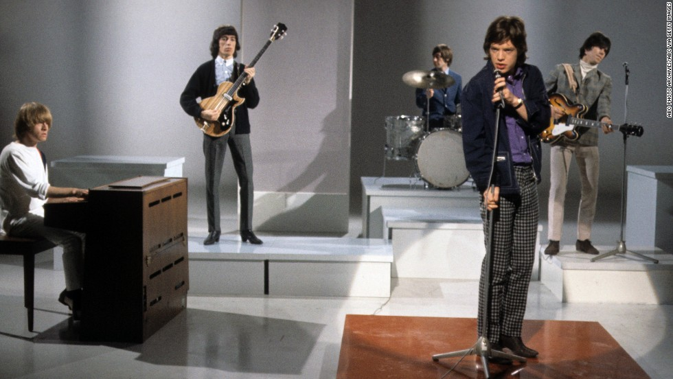 "The band gets ready to perform on the American musical variety show ""Shindig"" in 1965."