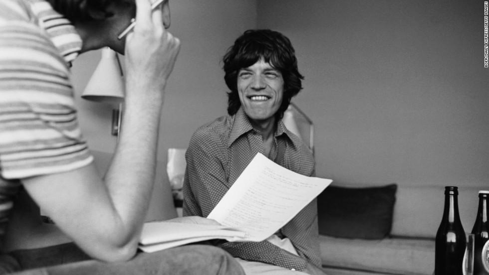 Daily Express entertainment writer David Wigg interviews Mick Jagger in 1973.
