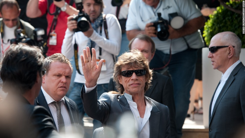 Mick Jagger leaves his hotel in France during the 2010 Cannes Film Festival.