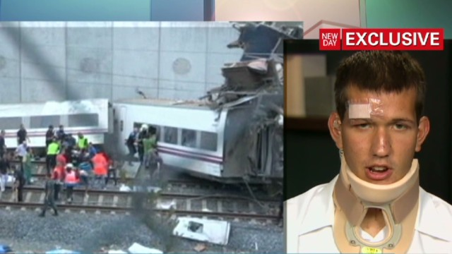 Train crash survivor speaks
