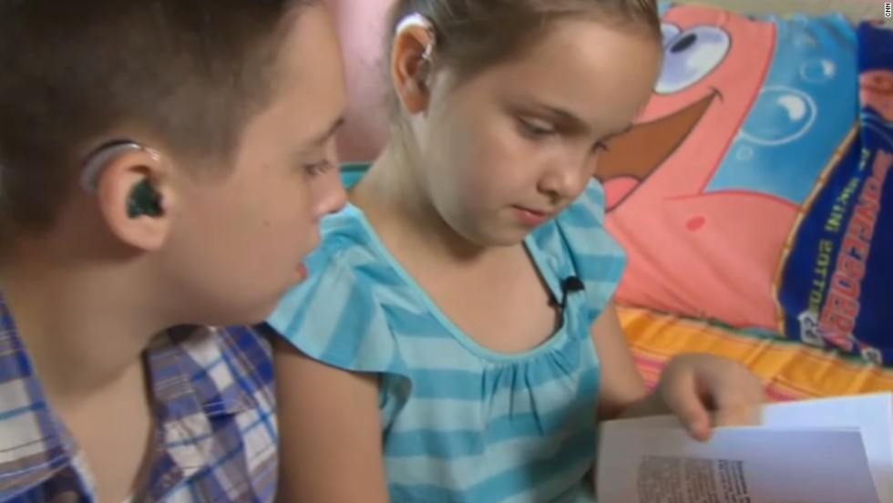 "Samantha Brownlie was diagnosed with nonsyndromic sensorineural bilateral hearing loss when she was 3. She wrote a book to explain why she wears a hearing aid in school. <a href=""http://thechart.blogs.cnn.com/2012/08/14/8-year-old-writes-book-on-hearing-loss/"">Read more</a>."