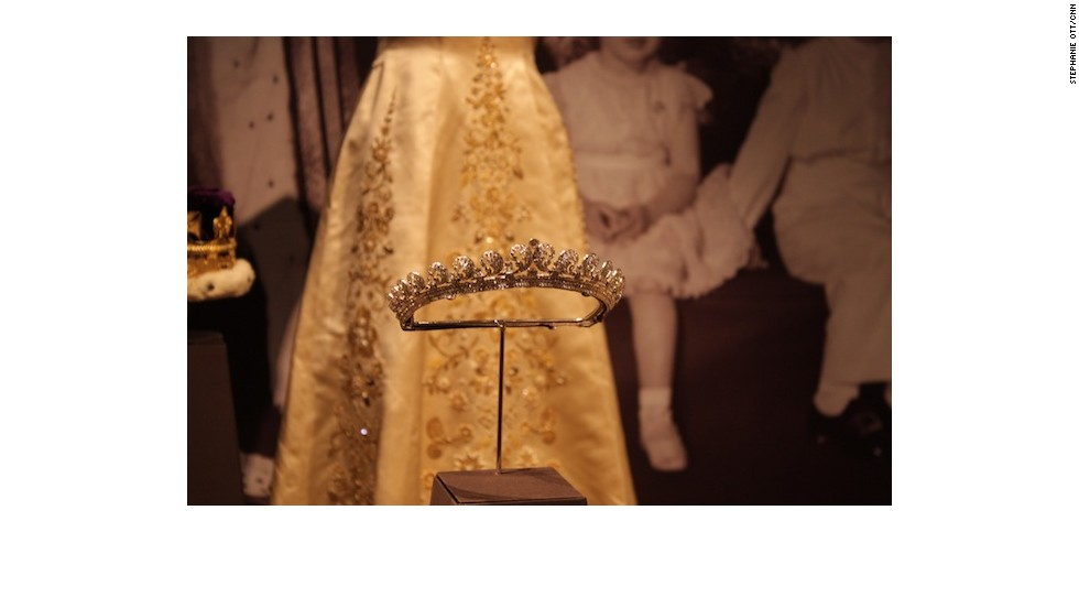 This is Princess Margaret's Halo tiara which Kate Middleton wore on her wedding day.