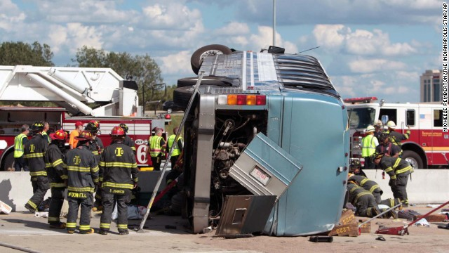 Fatal bus accident in Indiana
