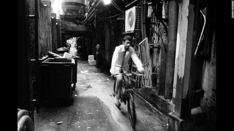 "The alleys encircling Chungking Mansions are lined with discarded items and trash, but also serve as gathering areas. According to Mathews, in years gone by the alleys were home to a whiskey stall, as well as ""50 or so Nepalese heroin addicts."""