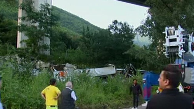 What caused fatal Italian bus crash?