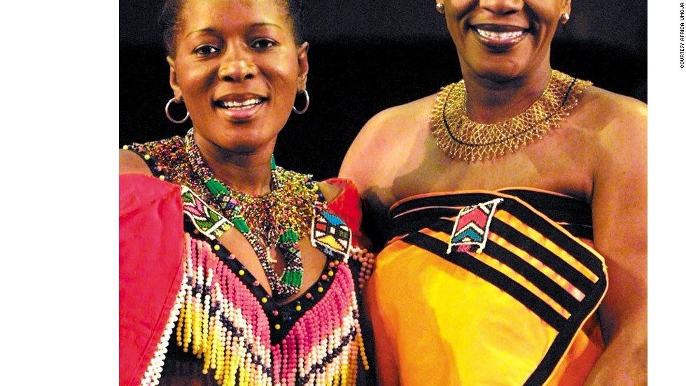 Todd Twala and Thembi Nyandeni (pictured) are former professional dancers who retired in order to create the troupe.