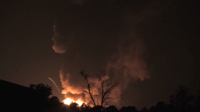 Propane explosion seen miles away