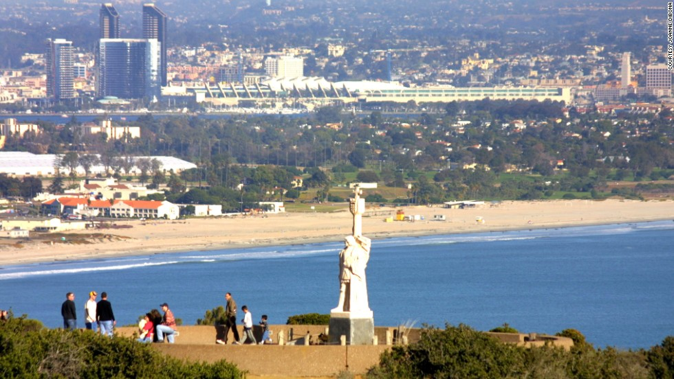 Cabrillo National Monument in the San Diego neighborhood of Point Loma was one of the author's hangouts in high school, and the National Park Service site is a wonderful spot to see the city.