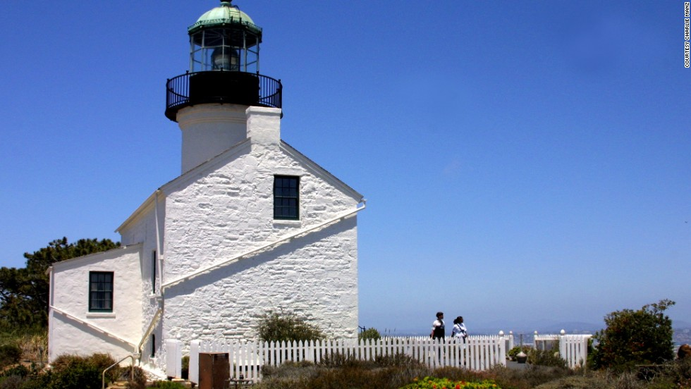 The Old Point Loma Lighthouse, now part of Cabrillo National Monument, stood watch over the entrance to San Diego Bay starting in 1855. Since clouds and fog often obscured the light, the light was extinguished in 1891 and the keeper moved to a new lighthouse closer to the water.