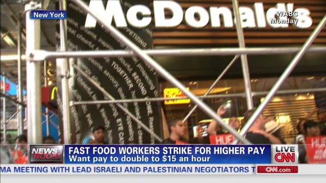 Fast Food Workers Strike For Better Pay
