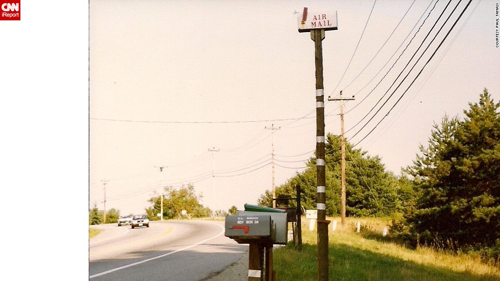 "<a href=""http://ireport.cnn.com/docs/DOC-1012361"">Paul Tamasi</a> spotted this hilariously tall mailbox on a road trip with his son along Route 2 in Maine."
