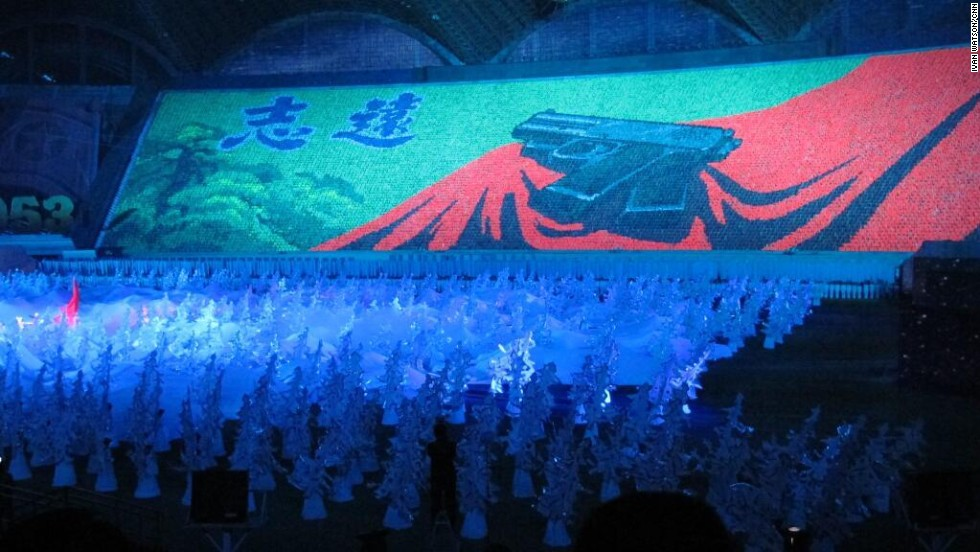 Themes of resistance, defiance against U.S. imperialism and self-sufficiency were highlighted at this performance in Pyongyang on July 26.
