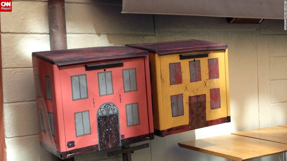 """As a professor of interior design, Nadya Kozinets was drawn to <a href=""""http://ireport.cnn.com/docs/DOC-1012915"""">these mailboxes</a> in Stockholm, Sweden."""