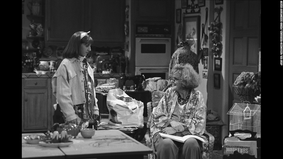 "Brennan, right, appeared on the NBC comedy ""Blossom"" in 1991 with Mayim Bialik."