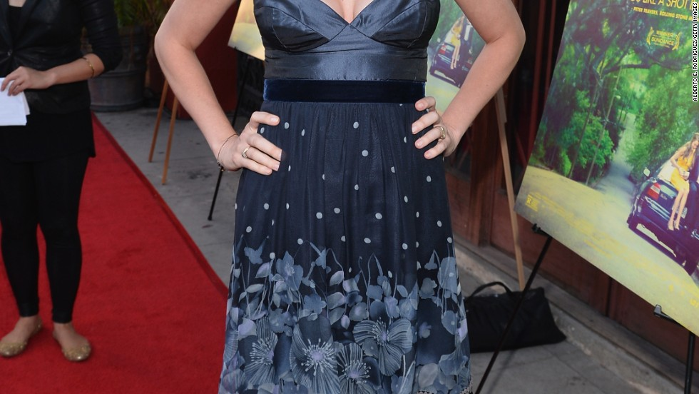 "Actress Jenna Fischer flashes a bright smile at a screening of ""The Spectacular Now"" in Los Angeles on July 30."