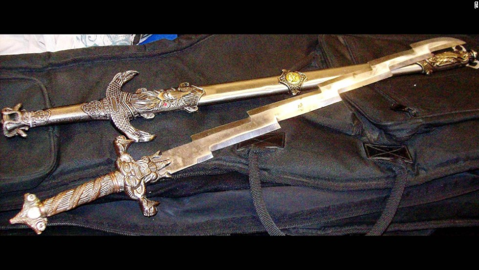 Two swords were found in a guitar case that a Salt Lake City passenger was attempting to carry on to a flight.