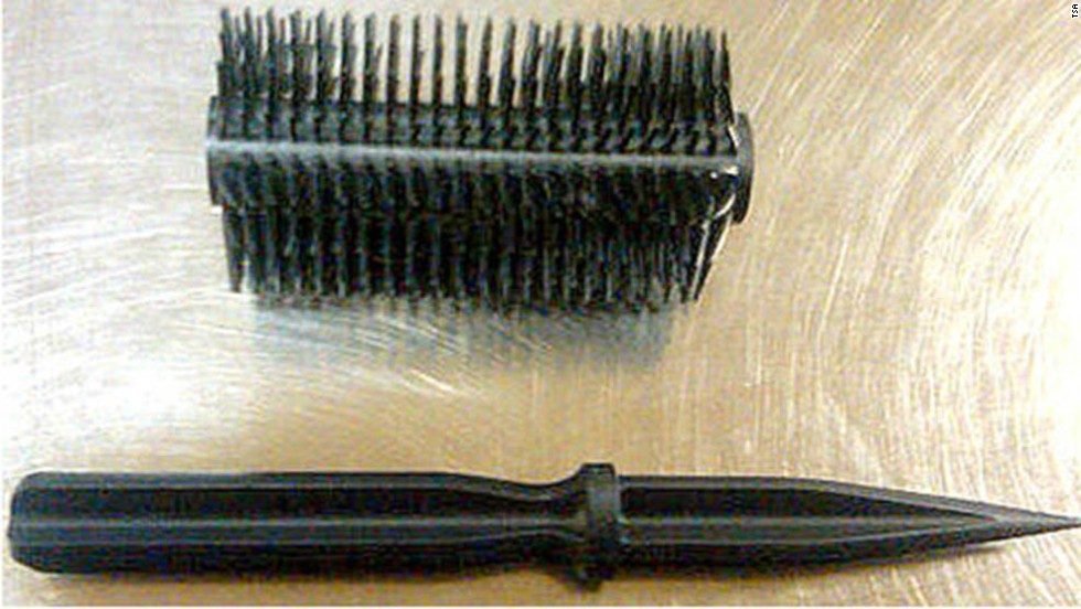 A hairbrush with a concealed dagger was discovered by TSA agents at Kahului Airport in Hawaii.