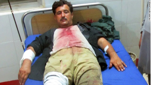 A police officer is hospitalized after being hurt in this week's deadly Taliban attack on a Pakistani prison.