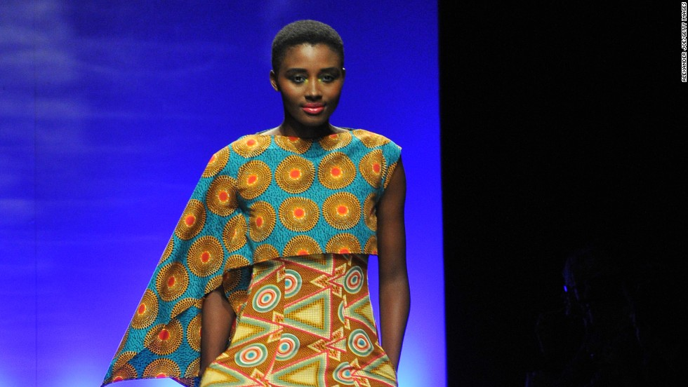 A model shows off clothes from the 46664 line during South African Fashion Week, in September 2011. Another Mandela-related clothing line, Long Walk to Freedom, was started by some of his grandchildren.