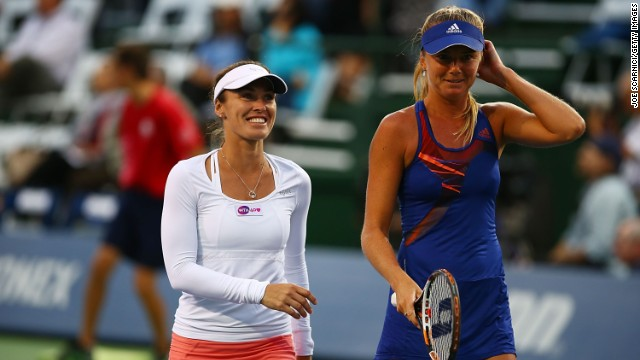 Martina Hingis played her first WTA match since 2007 2007 at the  Southern California Open alongside Daniela Hantuchova.