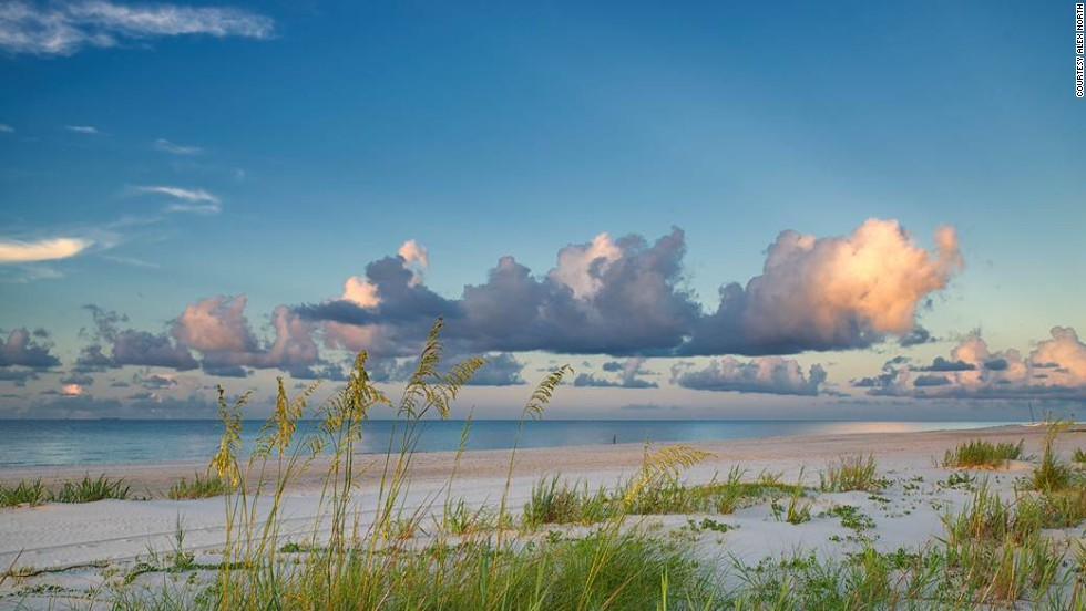 The Mississippi Gulf Coast features 26 miles of gentle ocean beaches, including Long Beach (shown here) just west of the Gulfport/Biloxi area.