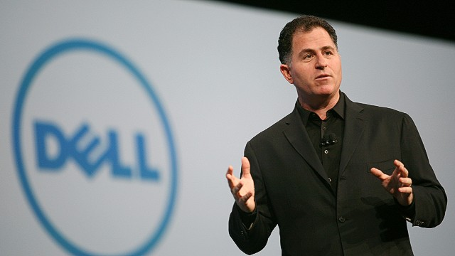 (FILES) Dell Chairman and CEO Michael Dell delivers a keynote at the Moscone Center during the Oracle OpenWorld 2011 in this October 4, 2011 file photo in San Francisco, California. Dell said March 25, 2013 that it had received two new acquisition offers, which could derail the US computer giant's plan for a private buyout led by founder Michael Dell. The company said the offers were from billionaire corporate raider Carl Icahn and investment fund Blackstone Group. AFP Photo/Kimihiro Hoshino/FILESKIMIHIRO HOSHINO/AFP/Getty Images