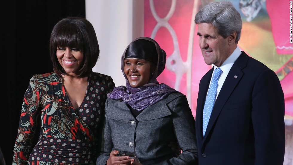 Earlier this year, Adan was honored by American First Lady Michelle Obama and U.S. Secretary of State John Kerry with the International Women of Courage Award.