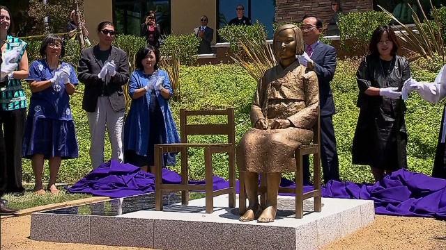 'Comfort women' statue unveiled