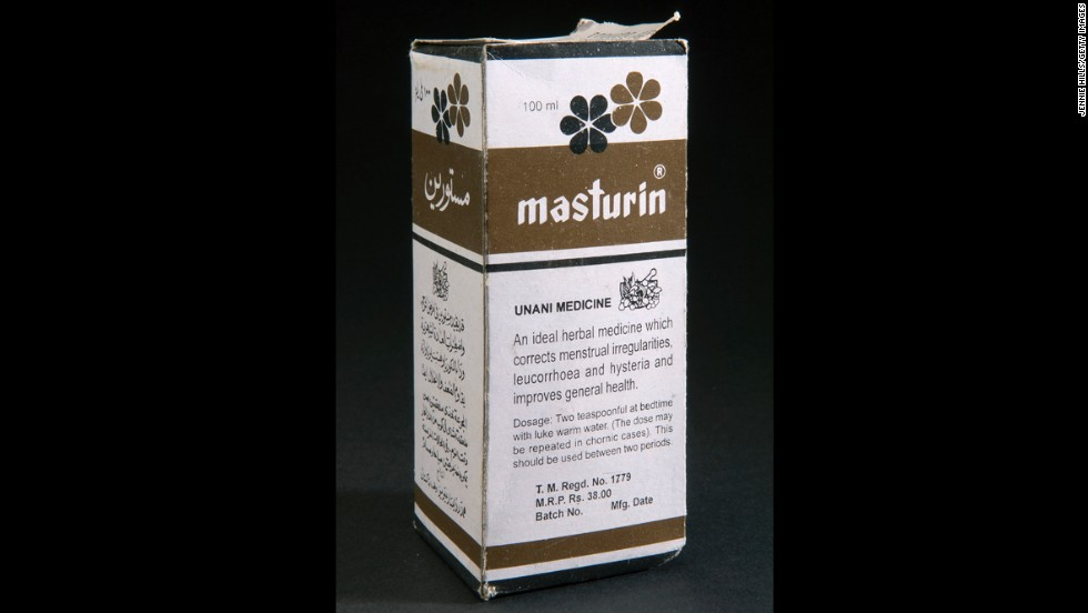 "Masturin has been advertised as an herbal remedy for ""female disorders,"" including ""hysteria."" It contains iron in addition to other natural supplements. The product is still available today"