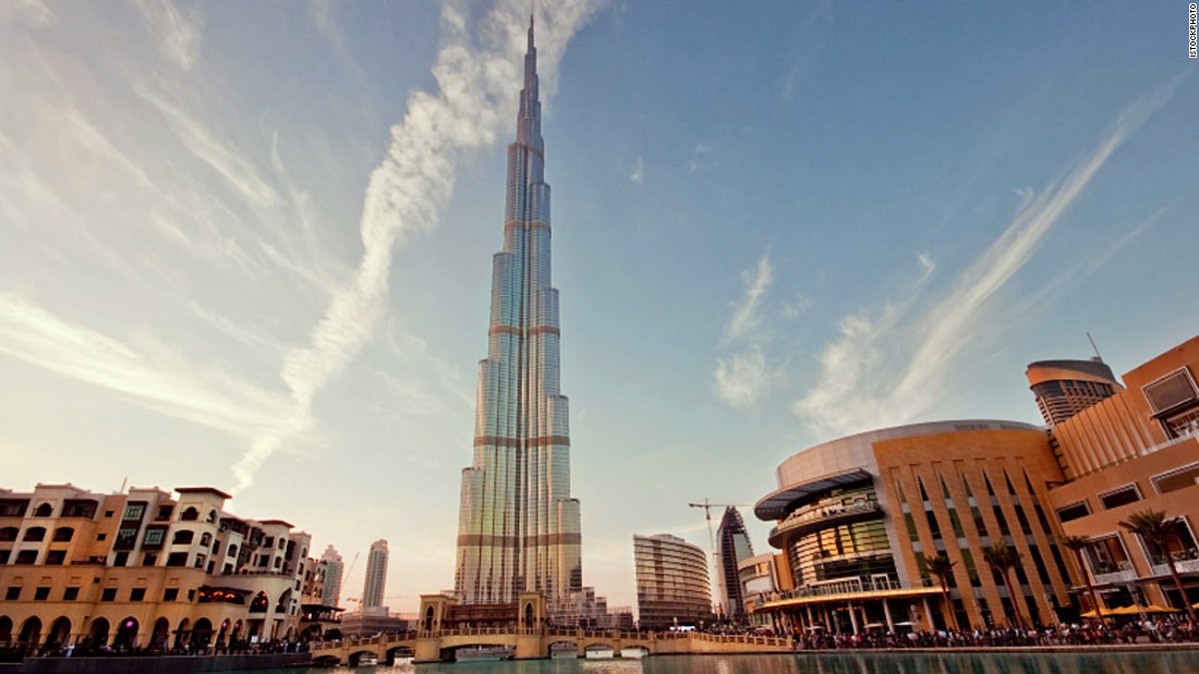 The Burj Khalifa in Dubai is currently the world's tallest building.