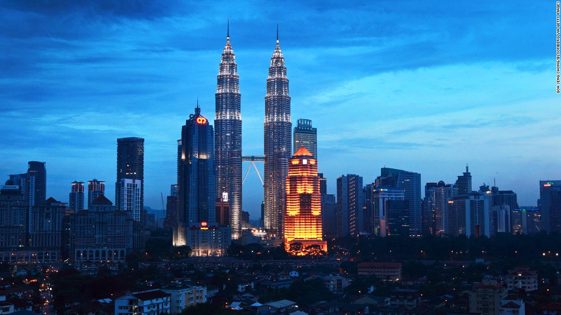 "<strong>#8 and #9. Petronas Towers 1 and 2, Kuala Lumpur, Malaysia</strong><br /><br />The joint eighth highest completed skyscraper is still the tallest twin towers in the world. Finished in 1996 and inaugurated in 1999, it's been the site of numerous hair-raising stunts. Felix Baumgartner set a then-BASE jump world record in 1999 by jumping off a window cleaning crane, and in 2009 Frenchman Alain Robert, known as ""Spiderman,"" freeclimbed to the top of Tower Two without safety equipment -- and did so in under two hours.  <br /><strong><br />Height: </strong> 451.9m (1483ft) <br /><strong>Floors: </strong>88<br /><strong>Architect: </strong>Cesar Pelli"