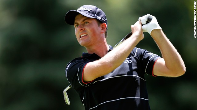 Webb Simpson shot a first round 64 on the opening day of the Bridgestone Invitational at Firestone Country Club.