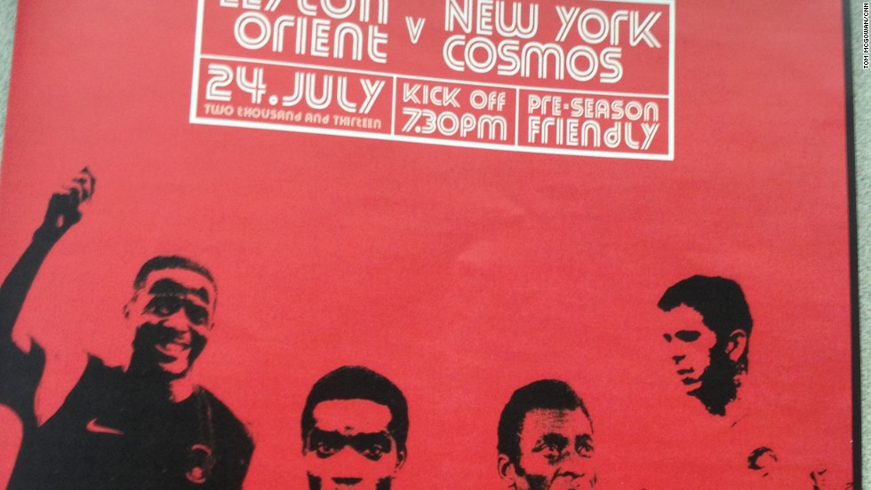 The match program at Leyton Orient's Matchroom Stadium celebrates the arrival of its prestigious opponents.