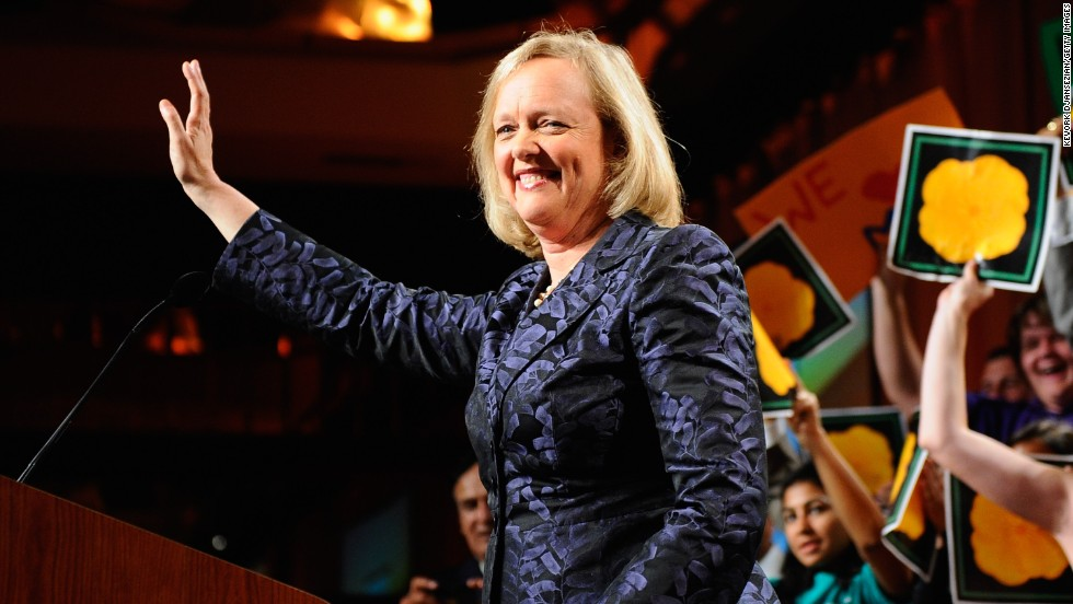 Republican Meg Whitman is the former CEO of eBay and 2010 candidate for governor of California.