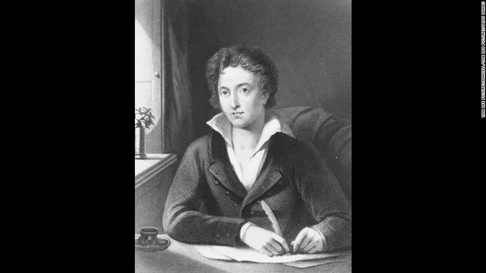 "Though he was only 29 when he drowned in 1822, Percy Bysshe Shelley is considered one of the greatest of English poets. He also was the husband of ""Frankenstein"" author Mary Shelley."