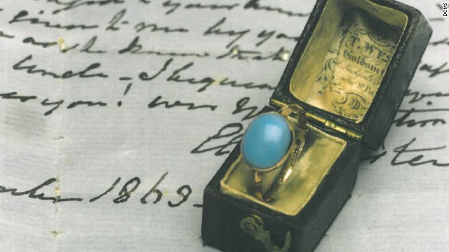 The ring that once belonged to English novelist Jane Austen was sold in a contemporary box with notes on its provenance.