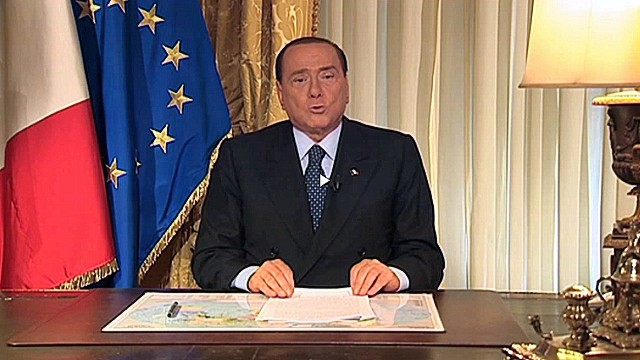 In this picture grabbed on images broadcast by Mediaset/RaiNews24 former Italian prime minister Silvio Berlusconi speaks on August 2, 2013 in Rome. Italy's ex-leader Silvio Berlusconi has lost his final appeal against a tax fraud sentence in a ruling that jolted the political establishment on August 2, 2013 but left the government in place for now. The country's highest court on Thursday handed the billionaire tycoon his first ever definitive conviction in a 20-year political career that has been dogged by legal woes and sex scandals.