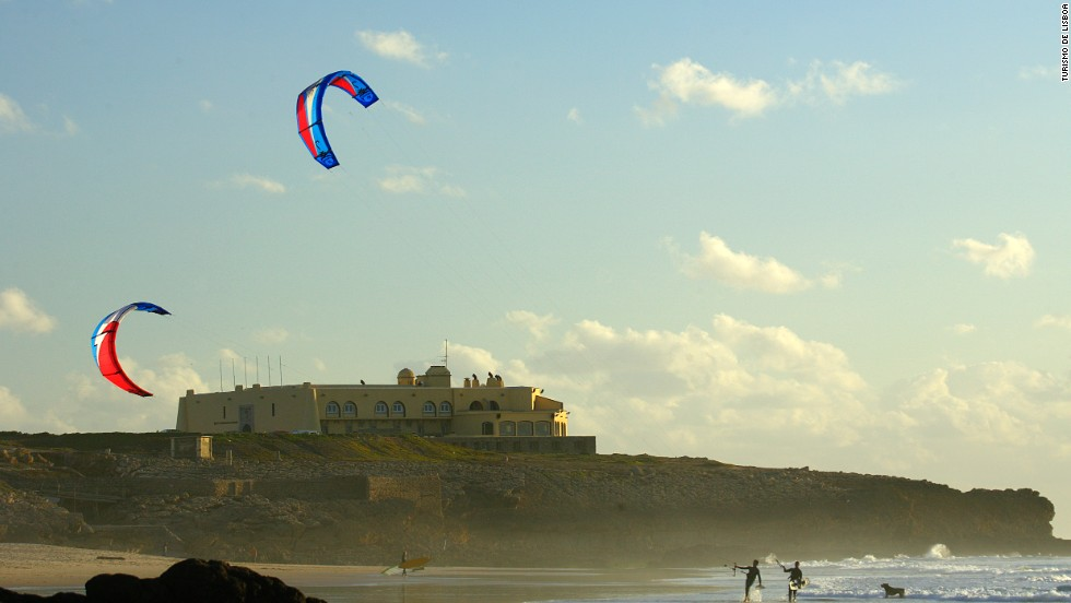 Lisbon's most beautiful beach? Guincho is certainly its windiest, which makes it great for kite- and windsurfing.
