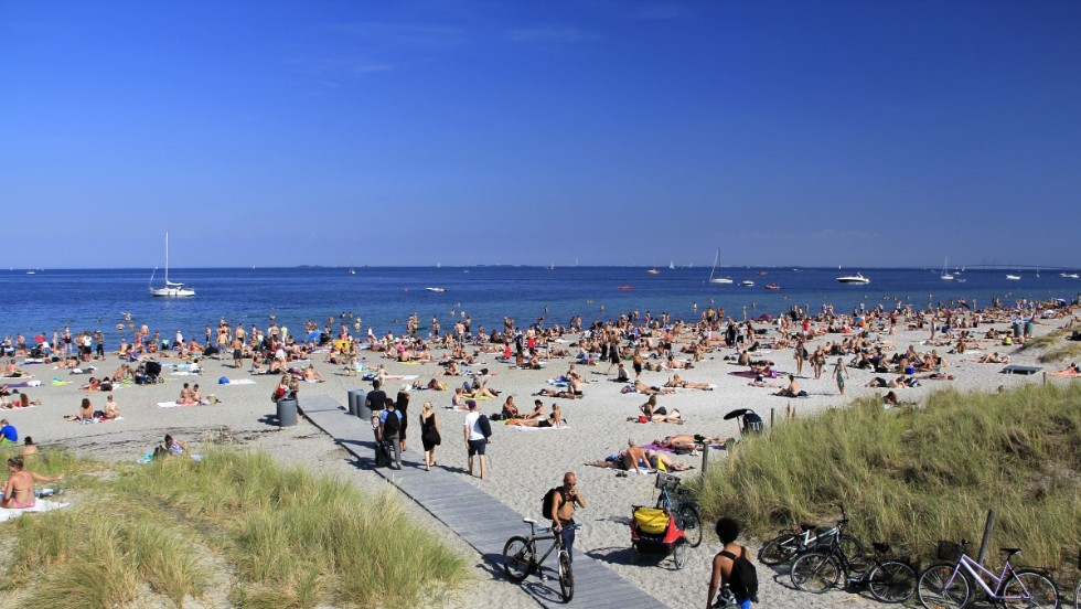 "Amager Beach Park has almost three miles of beach. The northern end is wild, with winding paths and sand dunes -- people come for picnics and play. The southern end has the new ""city beach,"" with a broad promenade and boat marina."