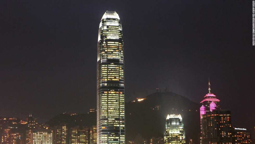 "<strong>Height</strong>: 415 meters.<br /><strong>Cost to build</strong>: $2.5 billion.<strong><br />Completion date</strong>: August 2008.<br /><strong>Fast facts</strong>: Two International Financial Center is the definitive point of Hong Kong's skyline and a symbol of its wealth. In ""Lara Croft Tomb Raider: The Cradle of Life,"" Lara Croft leaped off the building."