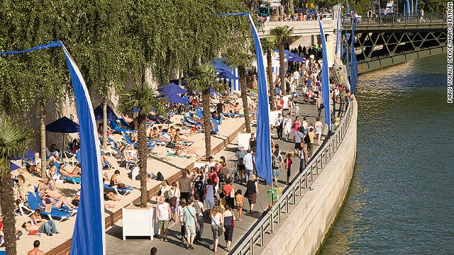 Seine-side on the Paris Plages.