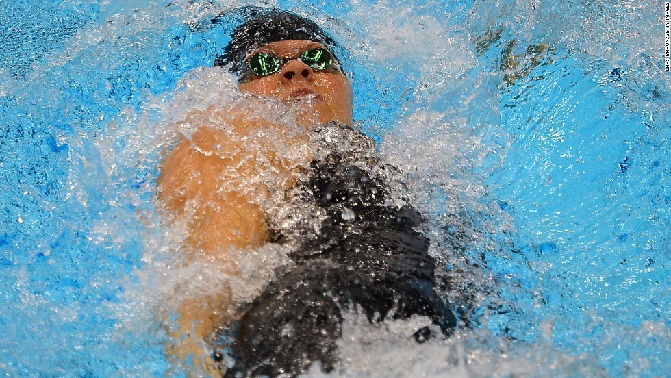 Franklin shattered the world record en route to winning gold in the 200m backstroke. She bettered the time set by Zimbabwe's Kirsty Coventry in 2009 by three-quarters of a second.