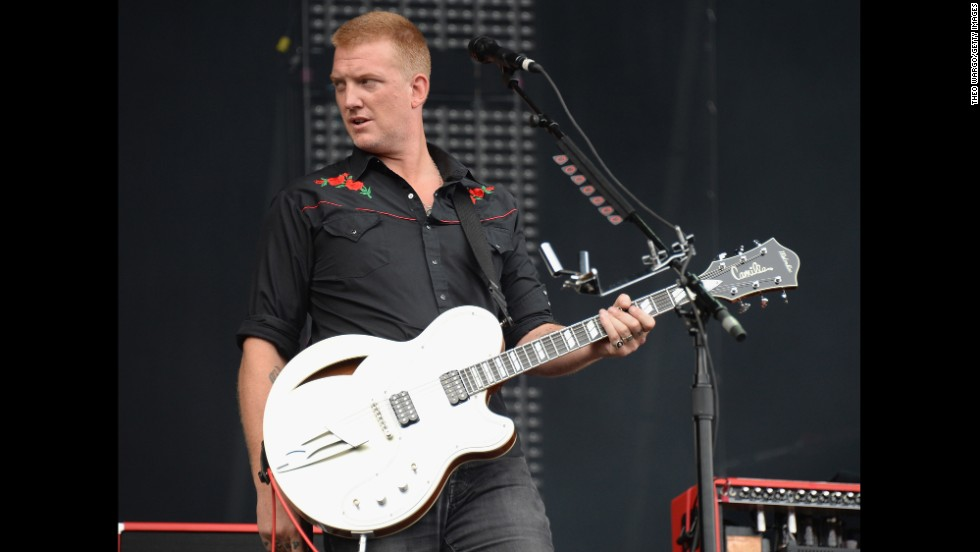 Queens of the Stone Age's Josh Homme performs on August 2.