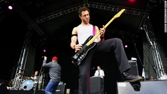 'Evil' Jared Hasselhoff of the band Bloodhound Gang performs on stage in 2009 in Australia.