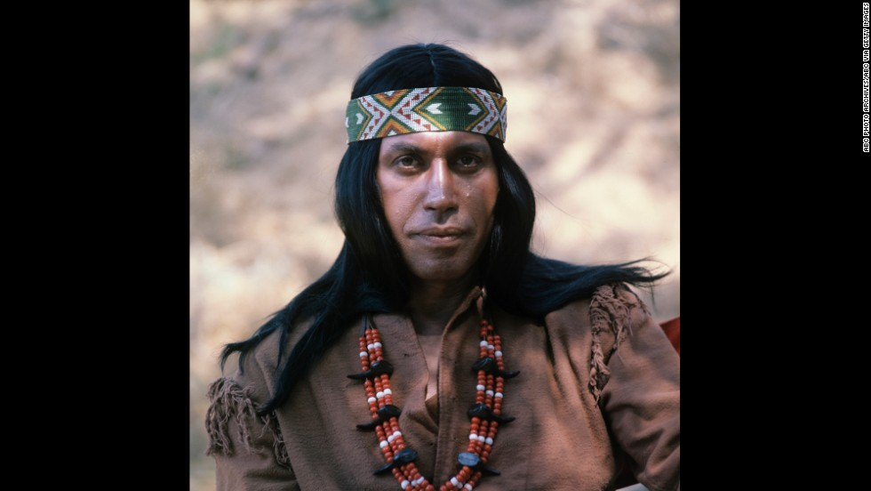 "Ansara as a Native American in an episode of ABC's Western-themed comedy ""Here Come the Brides"" in 1969."